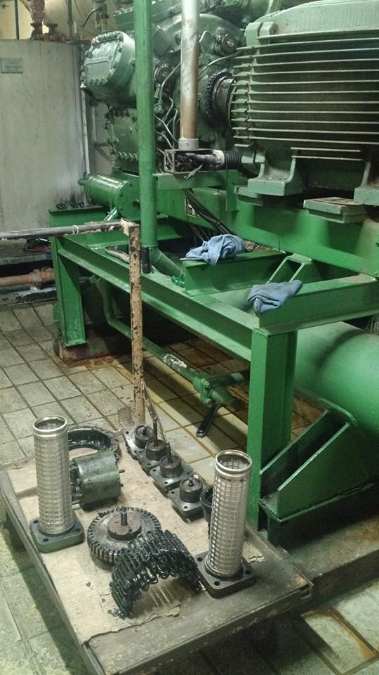 Manutenção de compressor Sabroe